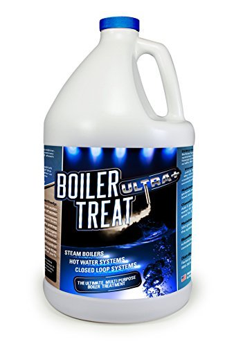 BOILER TREAT ULTRA | Delimer and Descaler - 1 Gallon (Removes Scale & Lime in Steam Boilers, Hot Water Systems, Closed Loop Systems & Wood Burning Boilers)