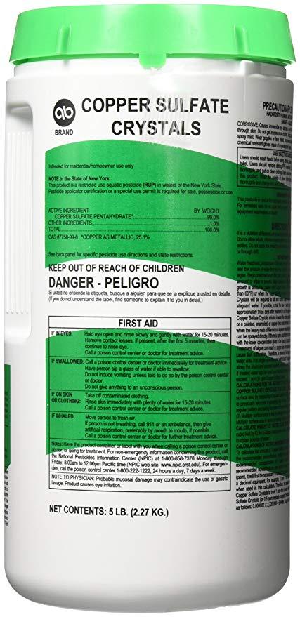 Applied Biochemists Aquatic Algaecide Copper Sulfate Crustals (390840A).